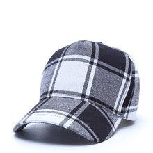 Adjustable Baseball Cap Women Male Snapback Hat Men Female Bone Bonnet Hip Hop Cap Outdoor Casquette Black Plaid Couple Plaid