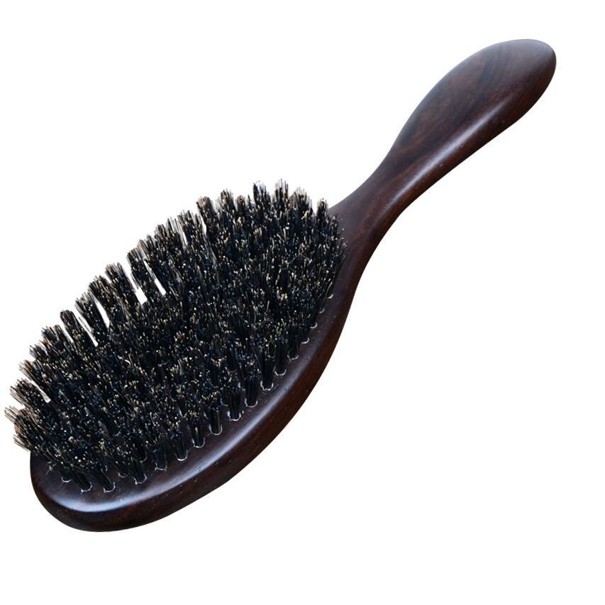 Natural Sandalwood Fine Comb Anti-Static Care Brush Head Natural Wild Boar Bristles Hair Brush Green Sandalwood Hair G0312Natural Sandalwood Fine Comb Anti-Static Care Brush Head Natural Wild Boar Bristles Hair Brush Green Sandalwood Hair G0312