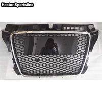 RS3 Style Chrome Frame Black Front Bumper Mesh Grill Grille Car Styling For Audi A3 S3