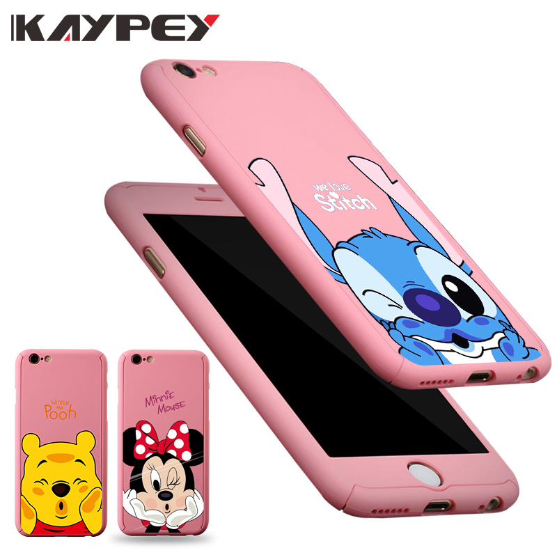 591887d15c 360 Degree Full Coverage Cases For iPhone X XS MAX XR Case Plastic Case For  iPhone 5S 5 SE 6 6S 7 8 Plus Pink cover Minnie coque