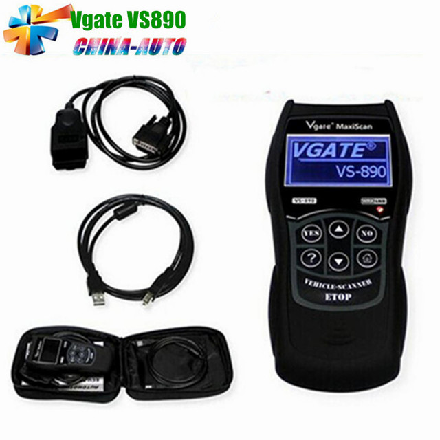 2016 VGATE VS890 VS890 OBD2 Lector de Código Universal OBD2 Escáner multi-idiomas BD2 VS-890 OBDII Eobd VS 890 envío Gratis