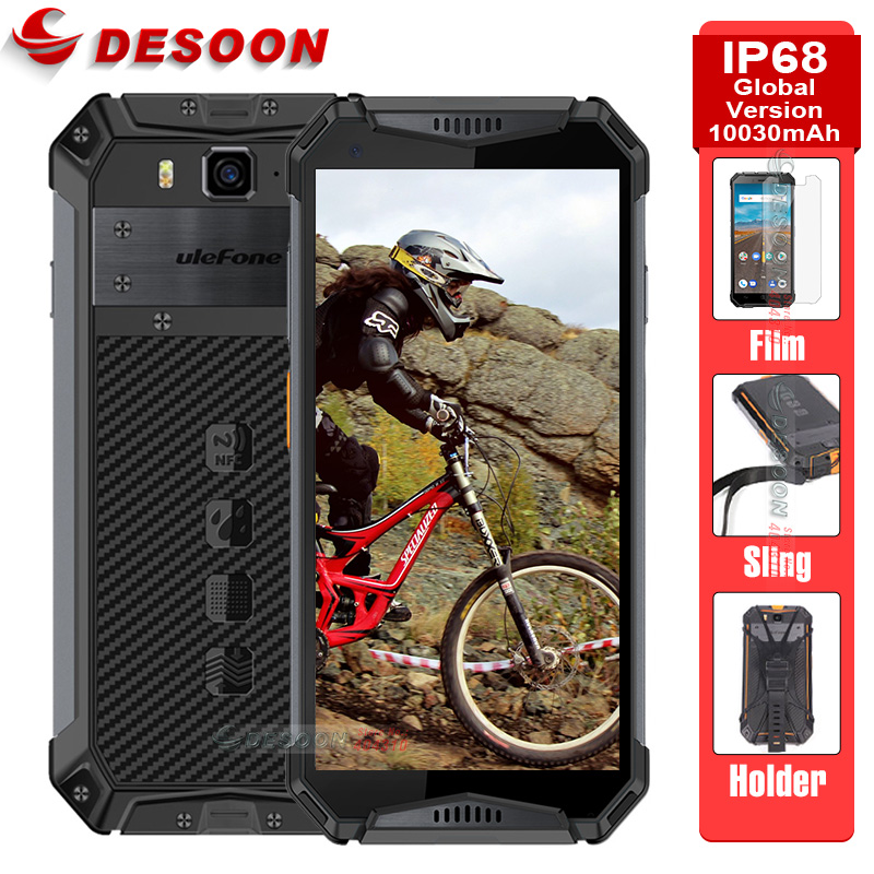 Ulefone Armure 3 Mondial Version IP68 Étanche téléphone portable Android 8.1 5.7