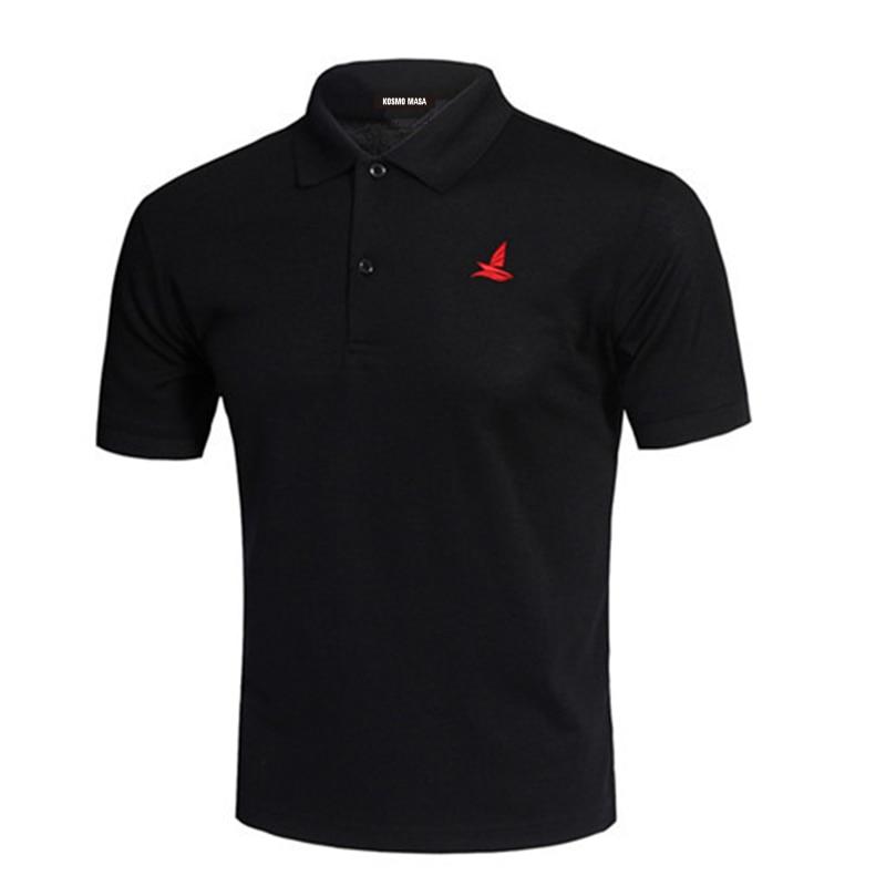 KOSMO MASA Cotton Black Polo Shirt Mens Short Sleeve 2018 Summer Casual Solid Male Polo Shirts