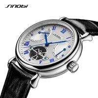 Sinobi Мужские автоматические механические часы Tourbillon Мужчины Скелет наручные Часы качество подарочная коробка Наручные часы Relojes mecanicos