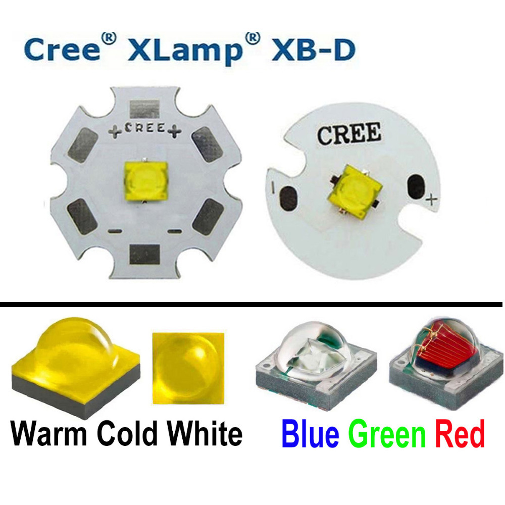 cree xlamp xbd xb d r4 1a red green blue yellow cold white warm white led light with 20mm 16mm. Black Bedroom Furniture Sets. Home Design Ideas