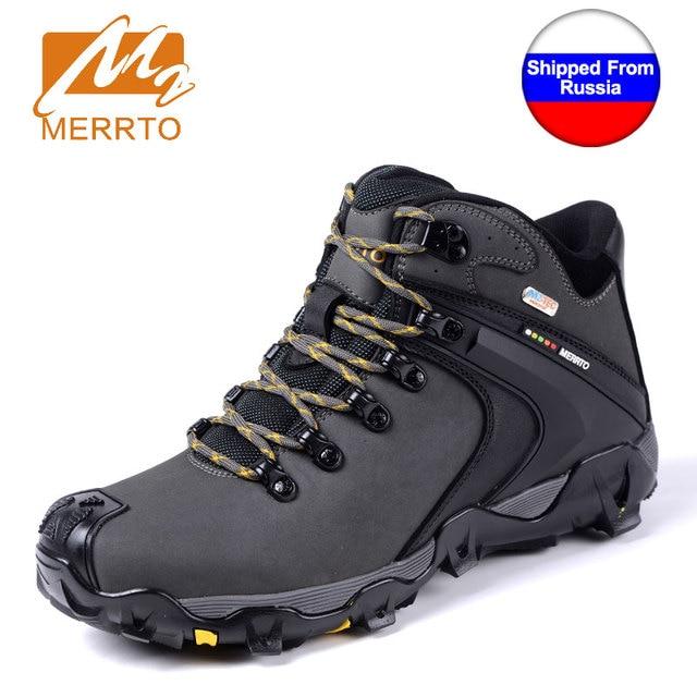 Kapal dari Ru Merrto Musim Dingin Kulit Sapi Pria Outdoor Sepatu Hiking  Memancing Athletic Trekking Boots 668722ddfd