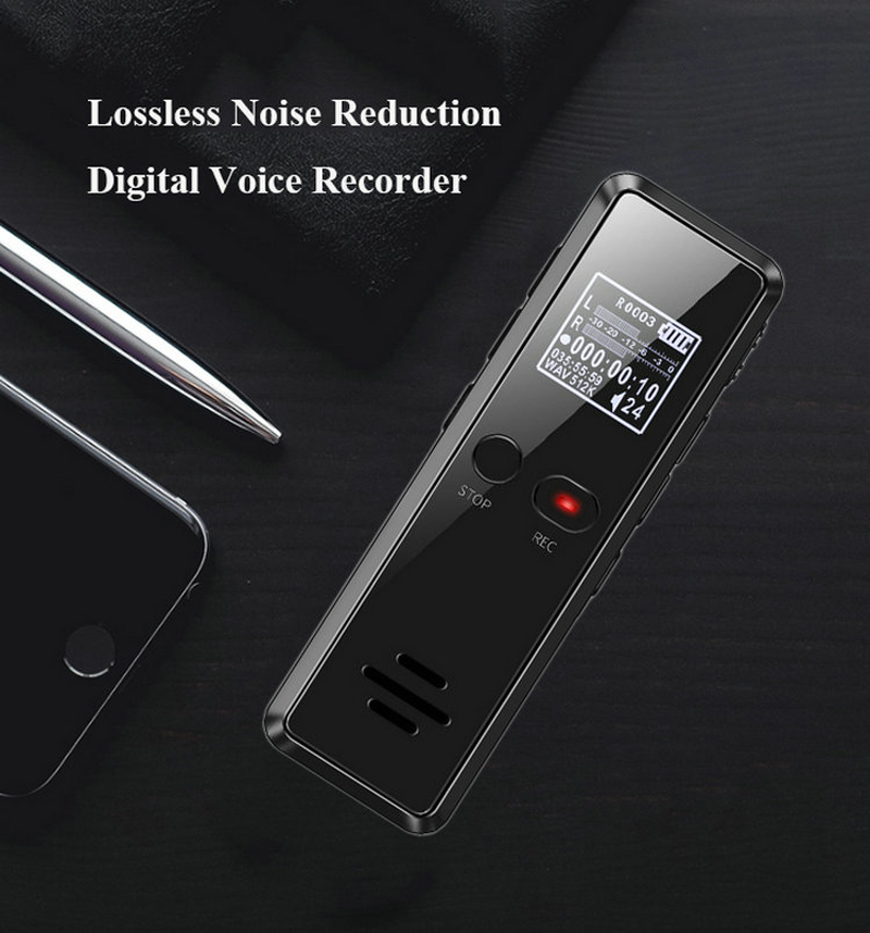 Volemer V90 Digital Voice Activated Recorder Dictaphone Long Distance Audio Recording Mp3 Player Noise Reduction Wav Recording (11)