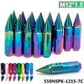 20 pc m12x1.5 blox alumínio de alta qualidade estendida jantes sintonizador lug nuts com spike 550nspk-1215