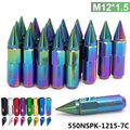 20PC Blox M12X1.5 High Quality Aluminum Extended Tuner Wheels Rims Lug Nuts With Spike 550NSPK-1215