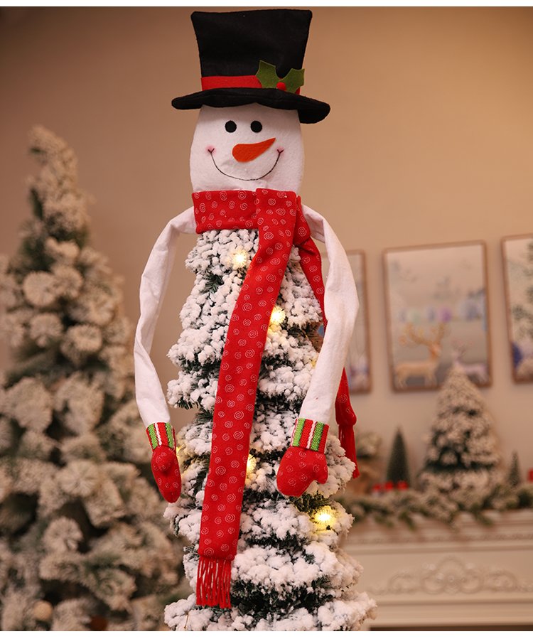 Christmas Tree Topper Snowman Hat Scarf Hugger Xmas Holiday Winter Ornament Supplies for Christmas Tree Decoration 39%off