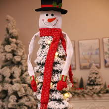 Christmas Tree Topper Snowman Hat Scarf Hugger Xmas Holiday