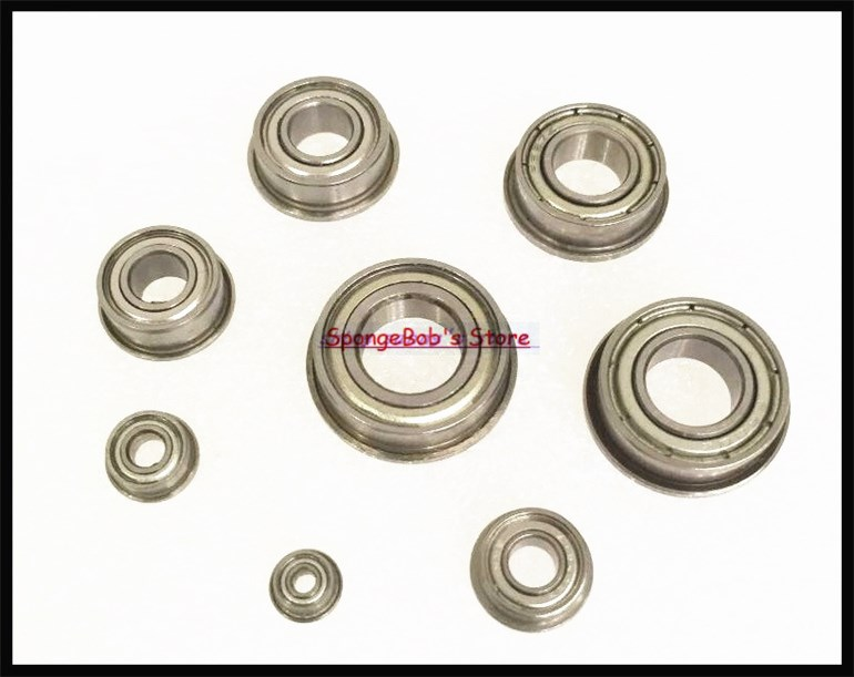 30pcs/Lot F687ZZ F687 ZZ 7x14x5mm Flange Bearing Thin Wall Deep Groove Ball Bearing Mini Ball Bearing 5pcs lot f6002zz f6002 zz 15x32x9mm metal shielded flange deep groove ball bearing