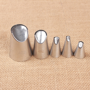 Image 3 - 5Pcs/Set Stainless Steel DIY Piping Chrysanthemum Tips Mold Nozzle Cake Pastry Cream Cookie Nozzle Mould Cake Decorating Tools