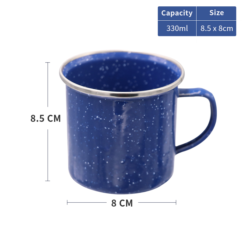 THousCamp 330ML Camping Heat proof Enamel Mug Milk Coffee Tea Cup Classic For Drinkware Outdoor Hiking Tourist in Outdoor Tablewares from Sports Entertainment