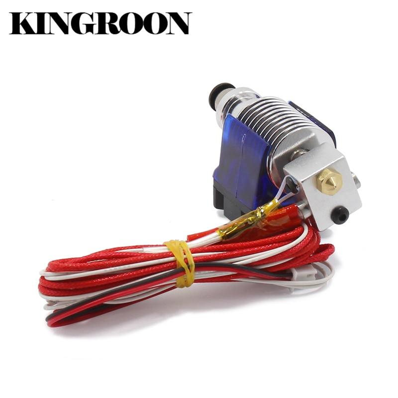 V6 j-leiter Hotend Extruder Kit 3D Drucker Teil Lüfter Halterung Block Thermistoren Düse 0,4mm 1,75mm Filament Bowden Teile