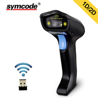 Wireless 2D Barcode Scanner,Symcode 1D/2D 2.4GHz Wireless Handheld Barcode Reader,200meters Wireless Transfer Distance