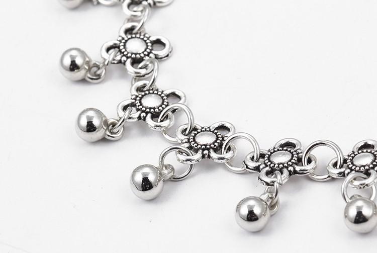 HTB1Yi4qMpXXXXc4XXXXq6xXFXXXb Sterling Silver Anklets - Stylish Women Silver Floral Anklet Foot Chain Jewelry With Charms