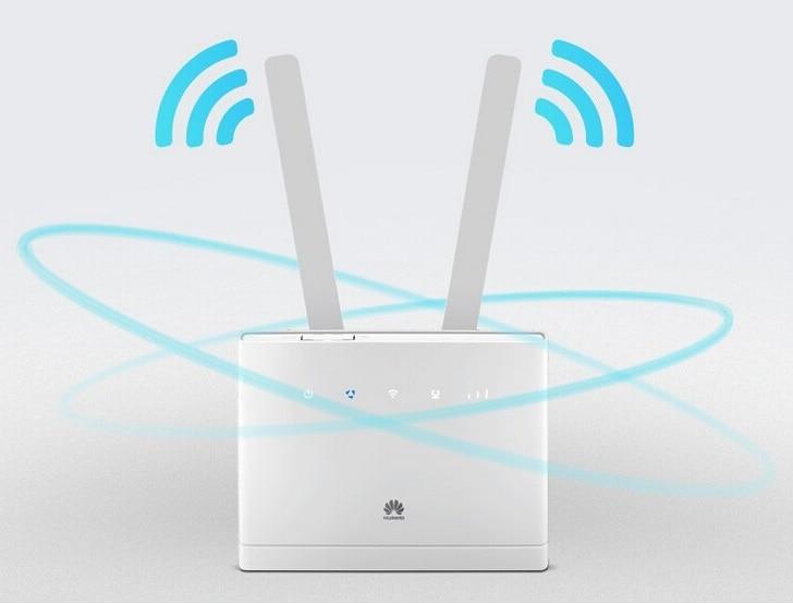 Desbloqueado Huawei B310 B310s-518 150 Mbps 4G LTE CPE ROUTER WIFI módem con 2 unids antenas