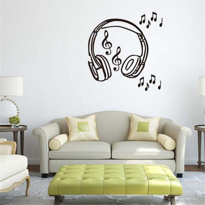 Musical Notes - bedroom wall art sticker - H515K