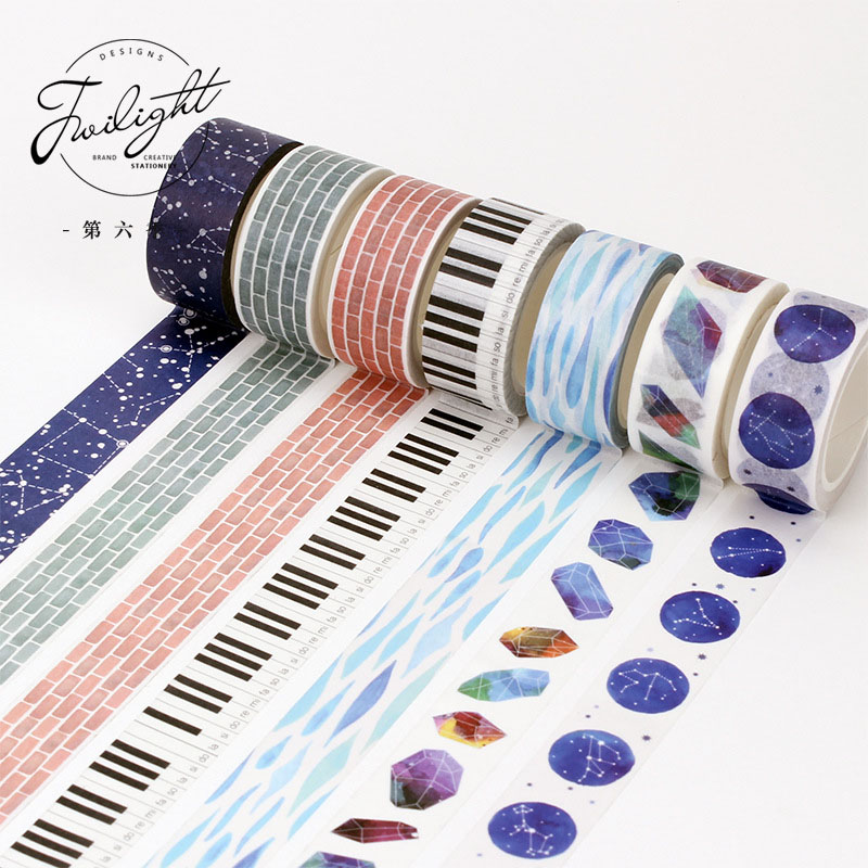 DIY Cute Kawaii Decorative Masking Washi Tape Feather Adhesive Tape For Photo Album Diary Student 3632 diy cute kawaii cartoon 5mm slim washi tape lovely fruit adhesive tape for decoration photo album school free shipping 3454 page 5
