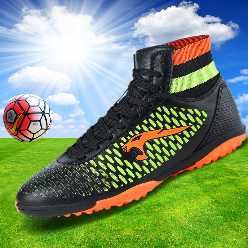 Haute Cheville Football Bottes Enfants Botines Botas Futbol 2018 Jeunes Superfly De Sport De Football Chaussures de Formation En Plein Air Sneakers Vente Chaude