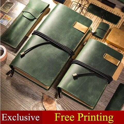 notebook traveler amarrar a corda de couro genuino do vintage jornal diario de couro artesanal