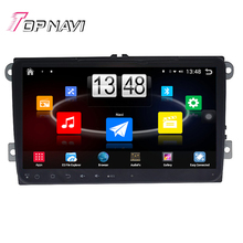 """Free Shipping 9"""" Quad Core Android 4.4 Car PC Car GPS For VW Universal With Radio Audio Multimedia Stereo Map Without DVD"""