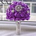 SoAyle venta Caliente Wedding Bouquet 2016 nobleza boda flores 20 cm * 30 cm Perlas de perlas de cristal Rhinestone flores Artificiales
