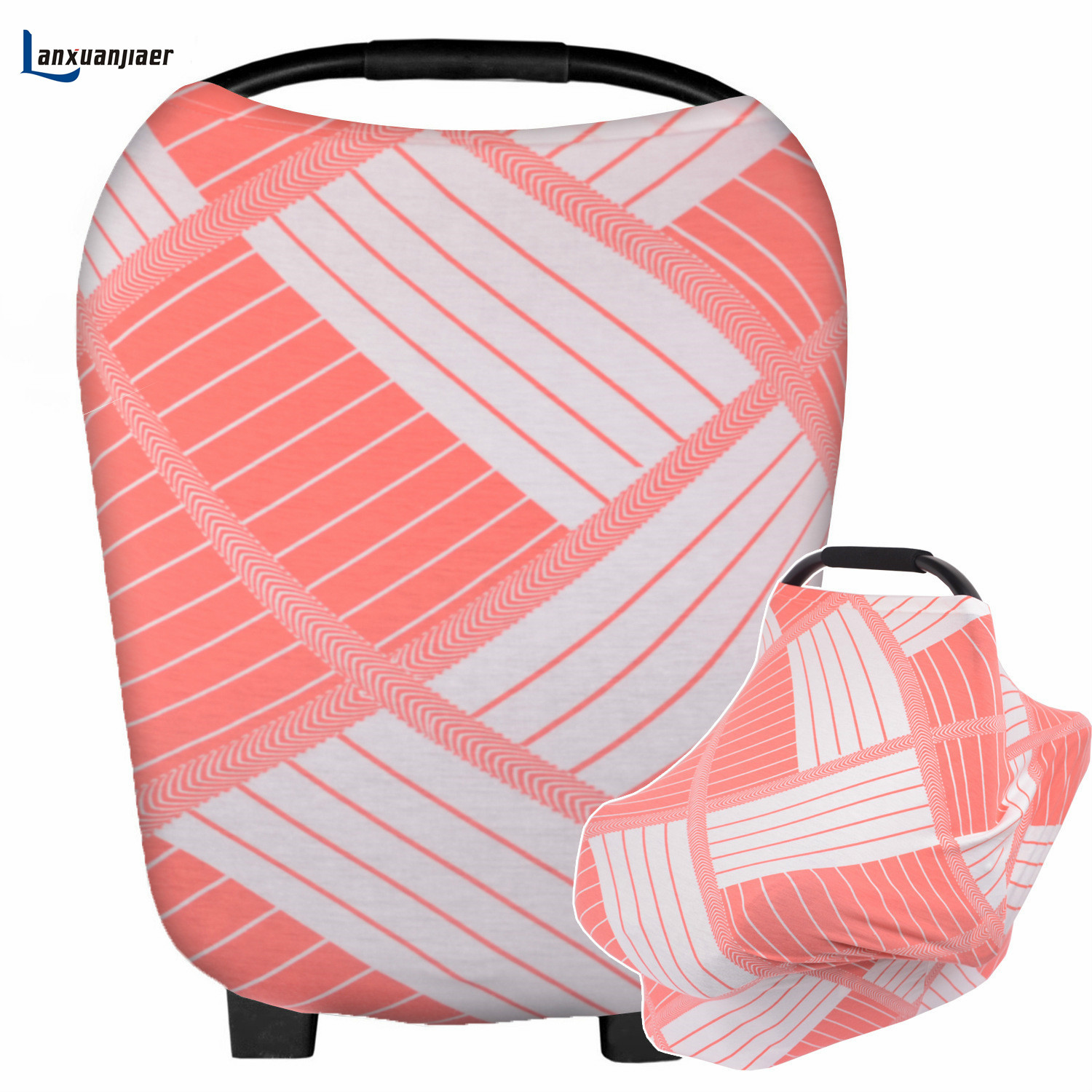 Nursing Breastfeeding Cover Carseat Canopy Stretchy Multi Use Car Seat Canopy