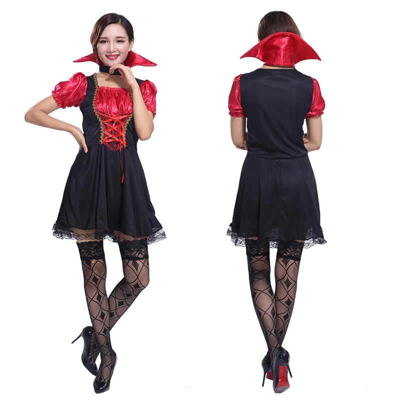The new 2016 Halloween cosplay Costume vampire bride dress costumes adult female vampire costume