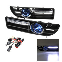 2pcs LED Fog Light Bumper Grille Grill DRL Switch Harness For VW Jetta Bora Mk4 1999 2000 2001 2002 2003 2004