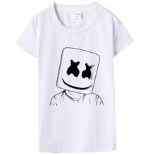 Marshmello T Shirts Women Personalized Custom Tee 2019 Summer Short Sleeve Tshirt  Female Hip Hop Short