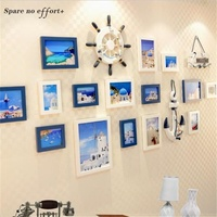 European Home Design Photo Frame Office/Store/Home Wall Decoration Wooden Picture Frame Set Porta Retrato Wall Photo Frame Set