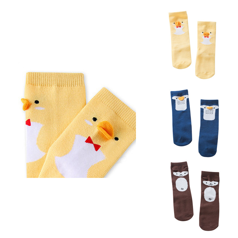 Chicken Baby Socks Anti Slip Floor Socks For Boys Girls 3D Cartoon Kids Knee Sock Baby Leg Warmer Autumn Baby Girls Clothing