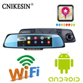 "Car DVR dual lens camera rear parking WiFi FM Transmit 6.86""Touch RAM 1GB ROM 16GB 2 Split View Android GPS Navigation Mirror"