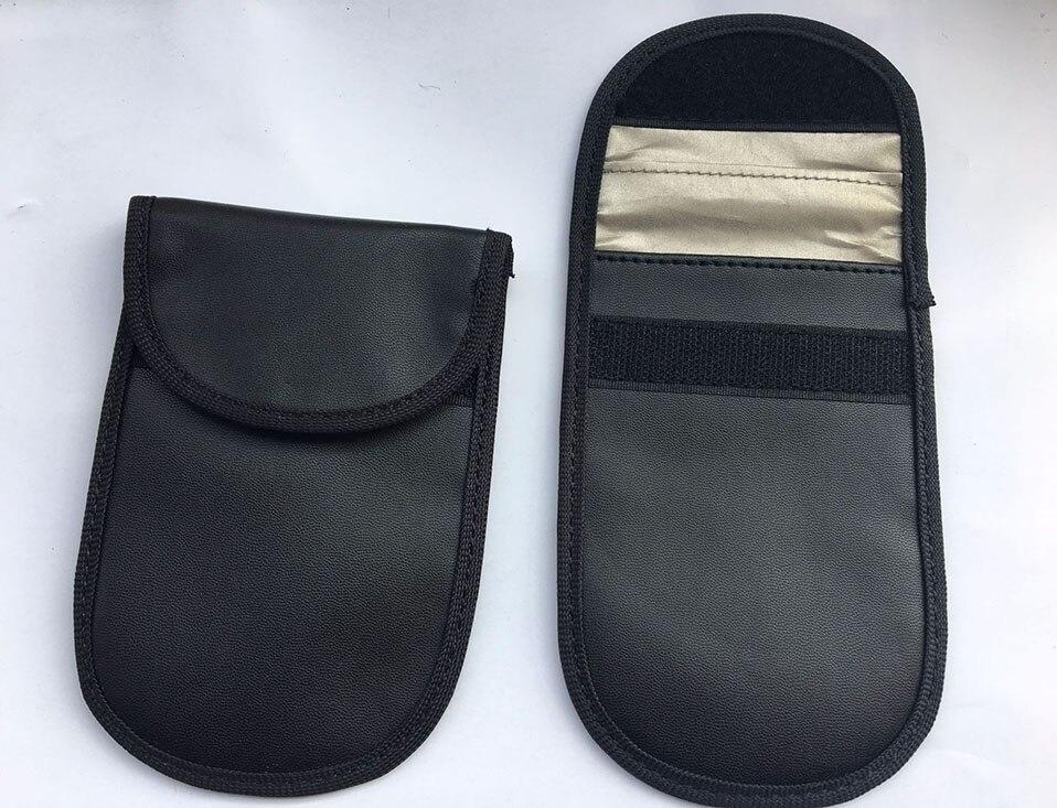 Car Keyless Home Storage Bags Organization Phone Car Key Keyless Entry Fob Signal Guard Blocker Black Faraday Bag                (5)