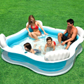 Large Size Family Square Inflatable Swimming Water Pool With Seats Backrest Home Use Parent-child Interaction Playground piscine
