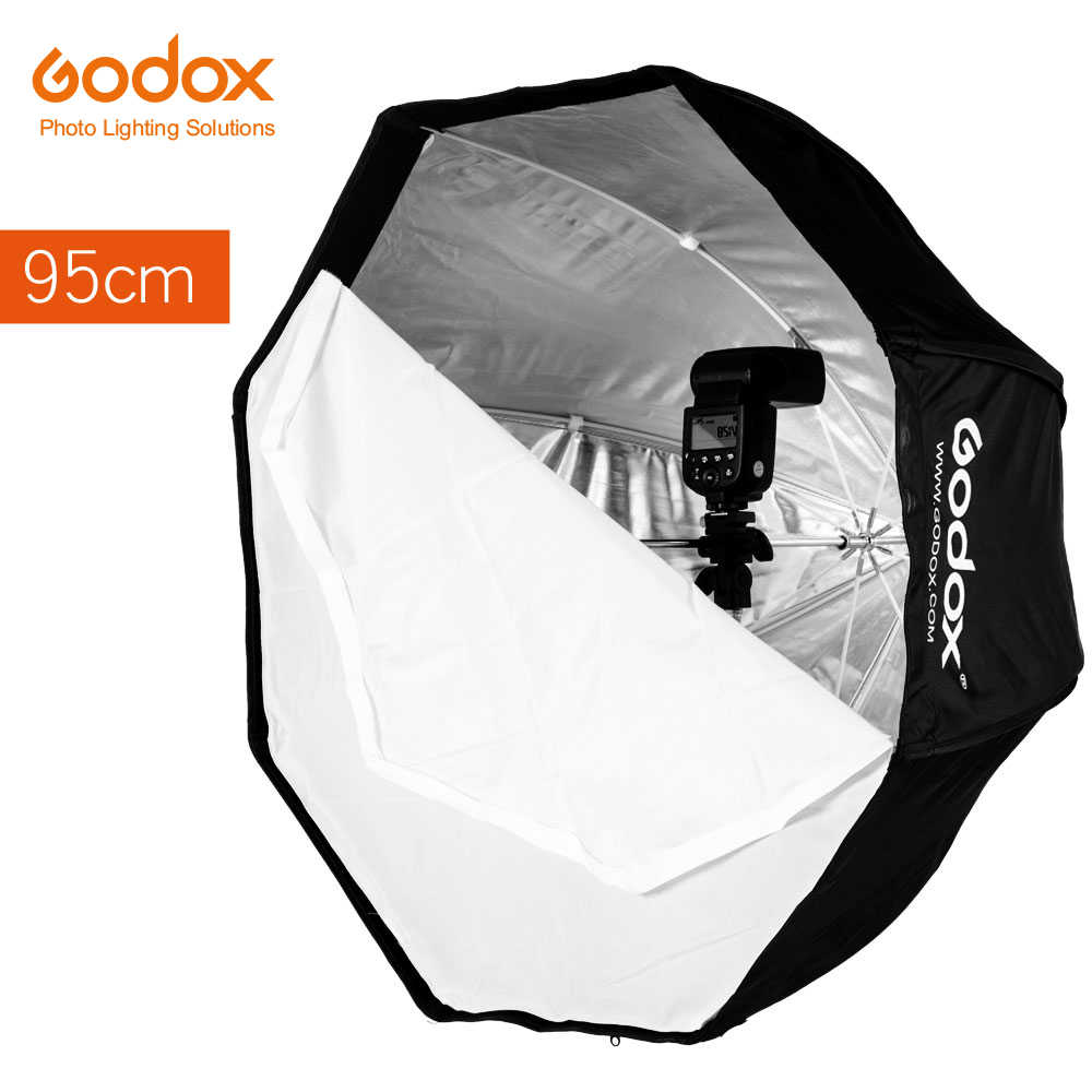 Godox 95 cm 37.5in Portátil Umbrella Octagon Softbox Speedlight instantâneo Speedlite Softbox Refletor com Bolsa de Transporte