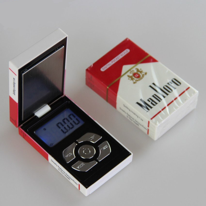 Cigarette Box Mini Pocket Protable Digital Jewelry Scale for Gold Diamond Weighing Balance Scale 200g*0.01g