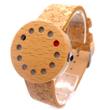 BOBO BIRD C10 Mens 12 Holes Design Unique Wood Watches Top Brand Design Elegant Wooden WristWatches With Real Leather Bands