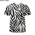 Padrão de zebra 3d impressão t camisa masculina moda harajuku manga curta flor tshirt casual homme t camisa dropshipping