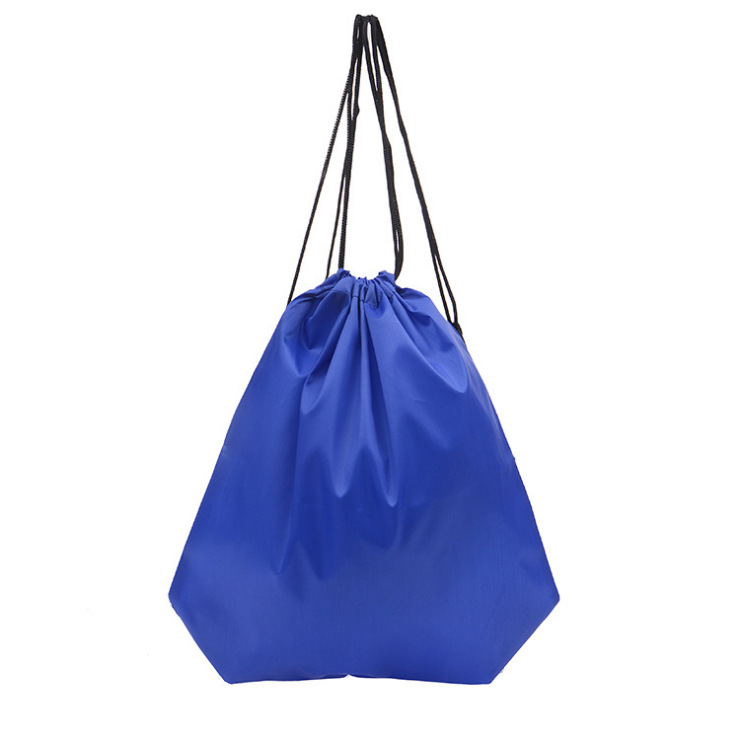 Portable Oxford Sports Bag Thicken Drawstring Belt Riding Backpack Gym Drawstring Shoes Bag Waterproof Backpacks 34*42 Cm