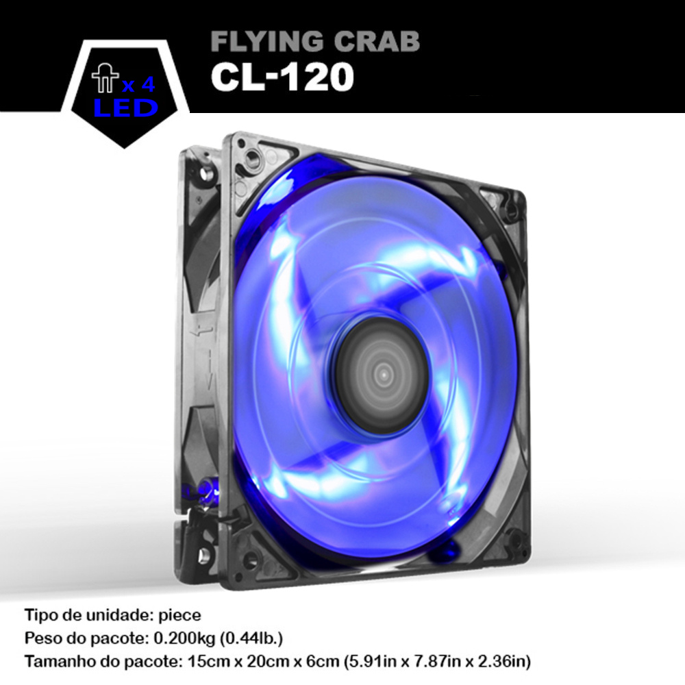 цены  ALSEYE Blue LED Computer Fan, 120mm Case Fan, High Air Flow Cooling Fans, 4 LEDs DC 12v 3pin 96CFM 1800RPM