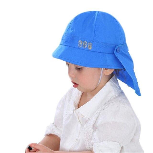 077e955d7c0 Baby Hat Summer Boys Sun Hat Baby Girls Cotton Hats Autumn Kids Beach Bucket  Cap Lovely Children Beanies Windproof Fisherman Hat