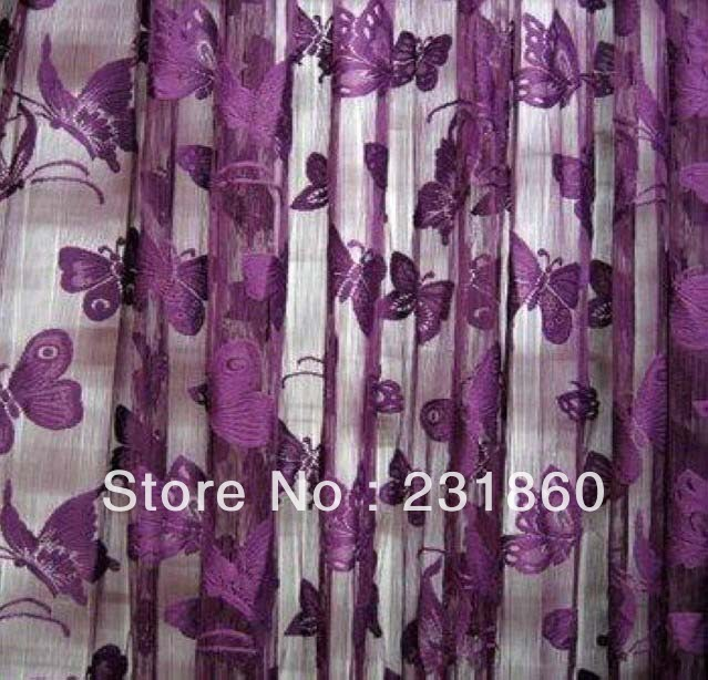 1 X Dark Purple Erfly String Curtains Window Room Divider Home Decor 1m 2m