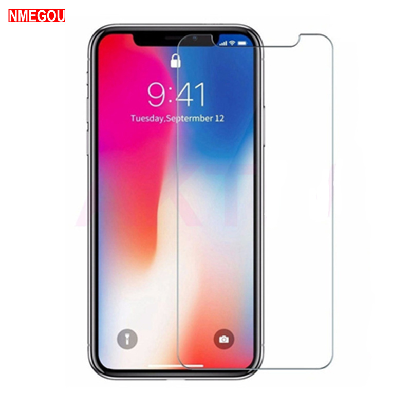 Screenprotector For IPhone X XR XS Max 11 Pro Tempered Glass Screen Protector For IPone 6S 6 S 7 8 Plus 10 Glass Protective Film