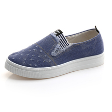 High Quality Women's Jeans Shoes flats Fashion Casual Denim Shoes Soft Soles Students Canvas Shoes Breathable Orientpostmark