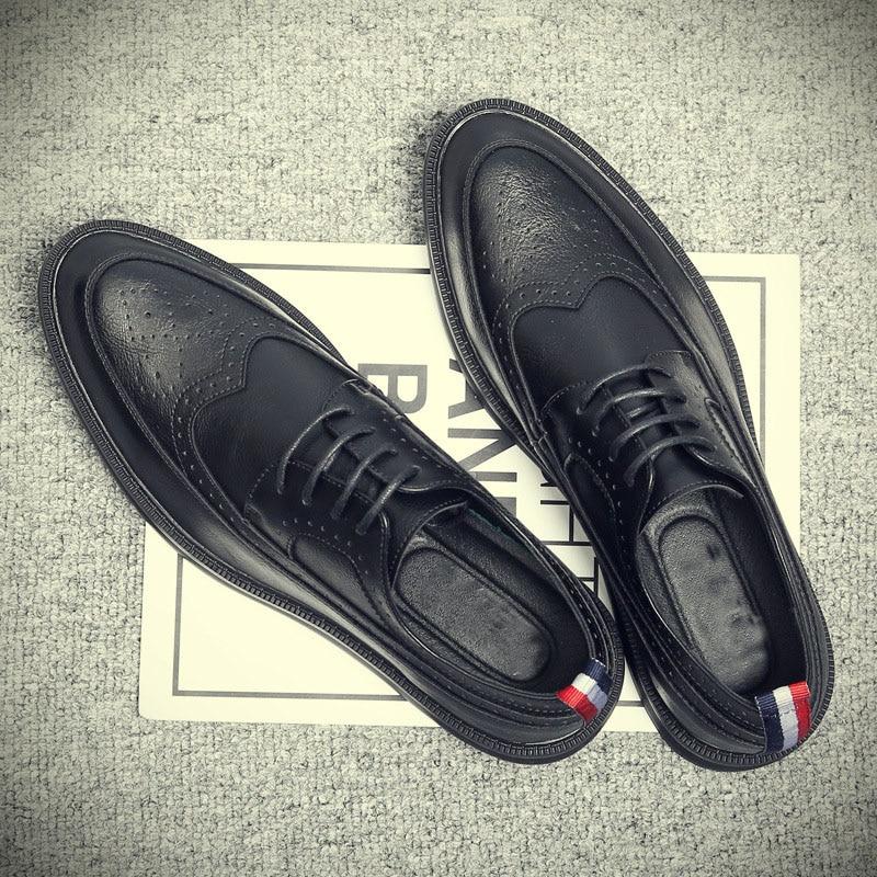 Luxury New fashion Mature man leather shoes