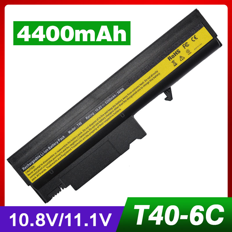 4400 MAH batterie pour IBM ThinkPad R50 R50E R50P R51 R51e R52 T40 T40P T41 T41P T42 T42P T43 T43P 08K8194 92P1010 92P1011 92P10584400 MAH batterie pour IBM ThinkPad R50 R50E R50P R51 R51e R52 T40 T40P T41 T41P T42 T42P T43 T43P 08K8194 92P1010 92P1011 92P1058