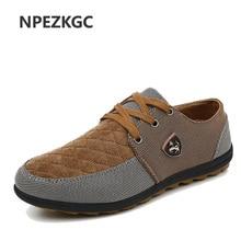 Npezkgc 2017 новая модная дышащая бренд швед Повседневная парусиновая Мужская обувь; обувь на плоской подошве Мужская обувь Размер 39–45